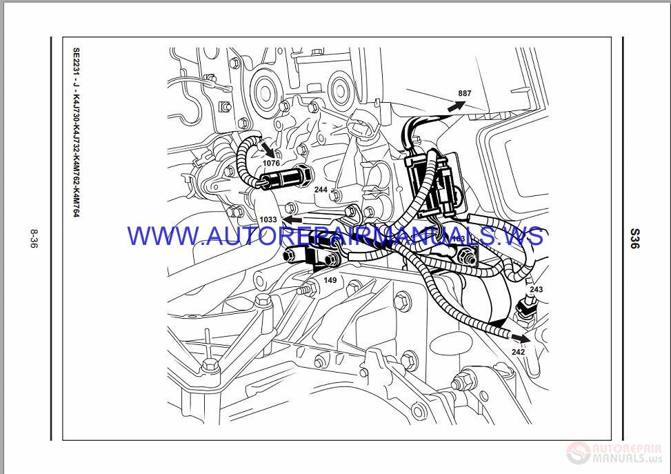 Renault Megane II X84 NT8228 Disk Wiring Diagrams Manual 11-2003
