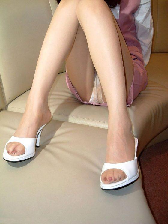 【レイプ不可避】パンスト履いた女がパンチラとかエロすぎるよなwwwww(画像あり)