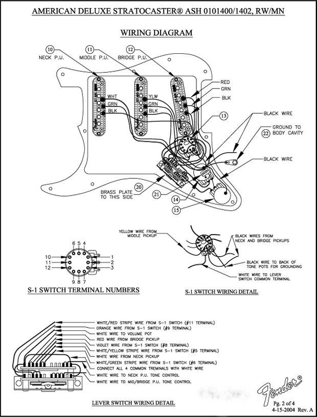 fender scn pickup wiring diagram