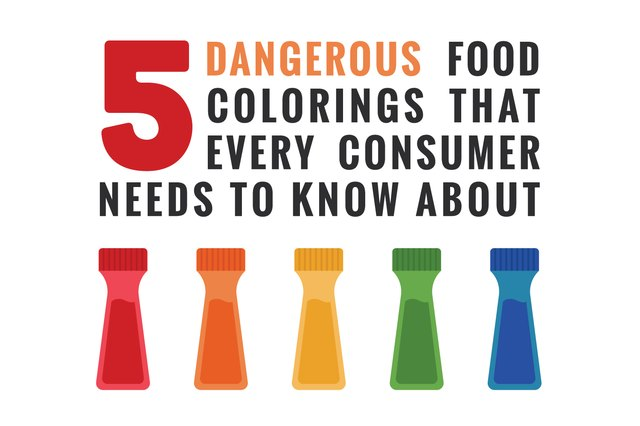 5 worst food coloring dyes and the surprising products they're in.
