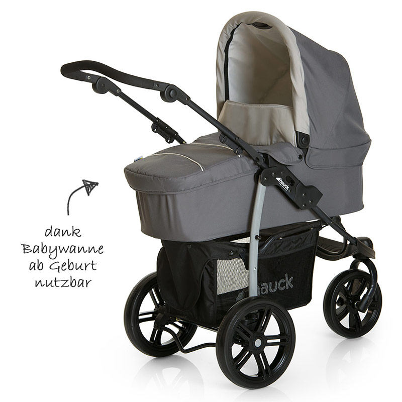Hauck Jogger Viper Slx Trio Set Smoke/grey Hauck Kinderwagen Set Viper Slx Trio 3 In 1 Inkl