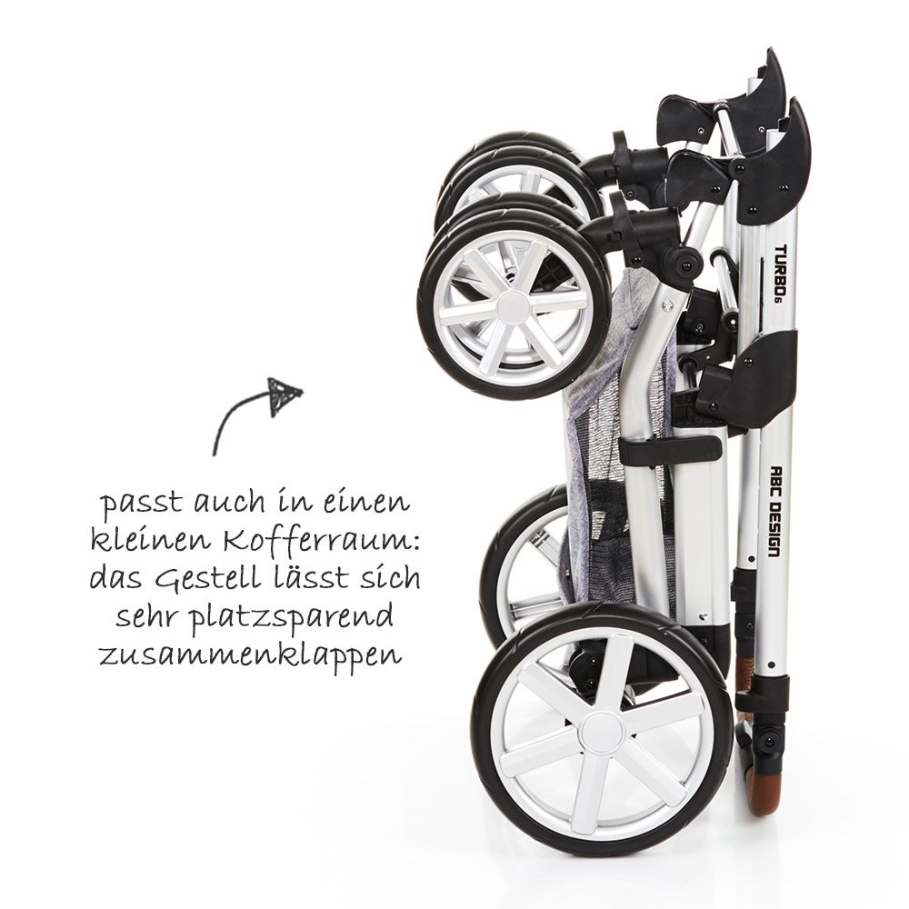 Abc Turbo 6 Zum Buggy Umbauen Details About Abc Design Turbo 6 Kombi Kinderwagen Buggy Set 2in1 Graphite Grey 2018