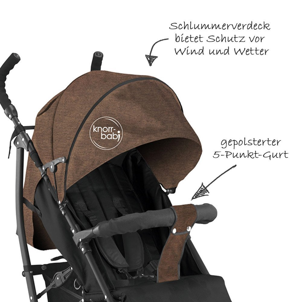 Knorr Baby Buggy Styler Test Knorr Baby Buggy Styler Melange Braun Collection 2019