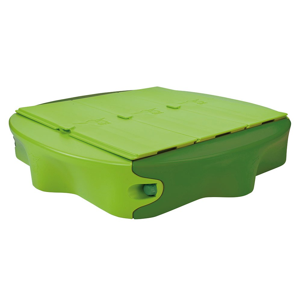 Big Wippe Big Sandpit Sandy With Hardcover 138 X 138 Cm Green