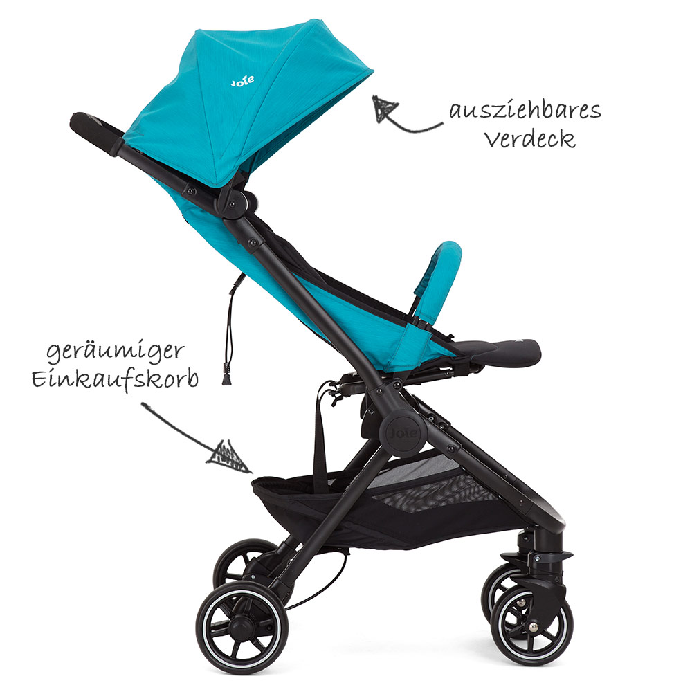 Buggy Mit Liegefunktion Günstig Joie Buggy Pact Lite Incl Carrying Bag And Raincover Pacific Collection 2019