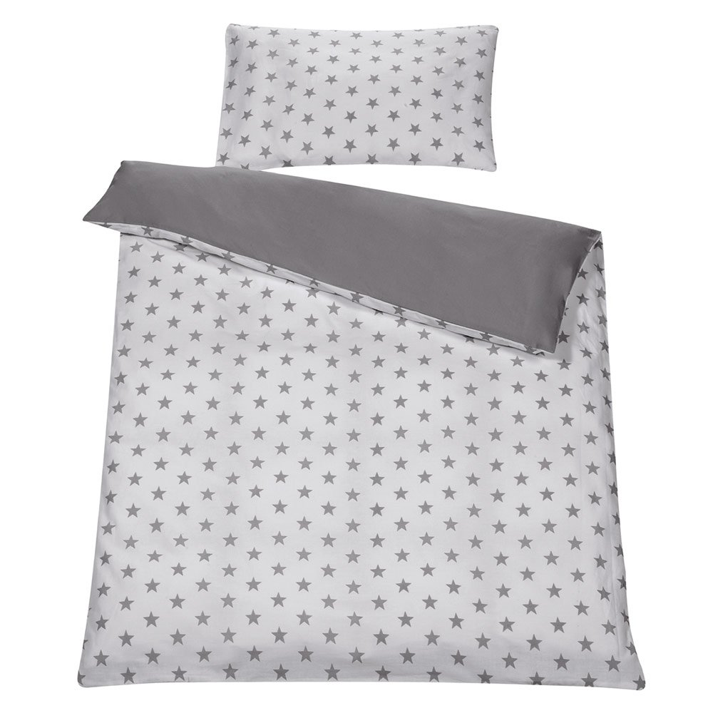 Bettwäsche Cars 100x135 Schardt Reversible Bed Linen 100 X 135 Cm Big Stars Grey