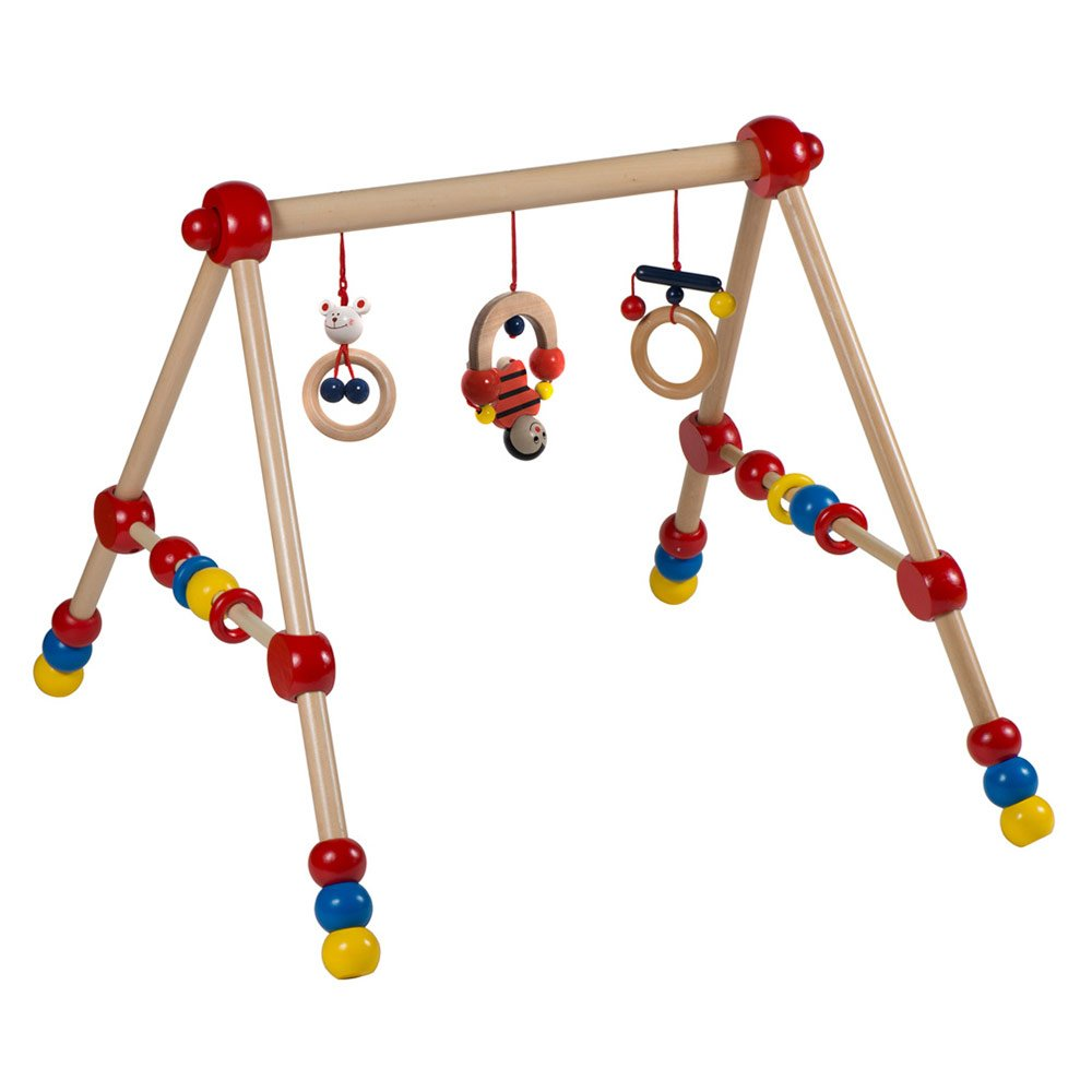 Baby Spieltrapez Bieco Play Trapeze Baby Gym Made Of Wood Height Adjustable