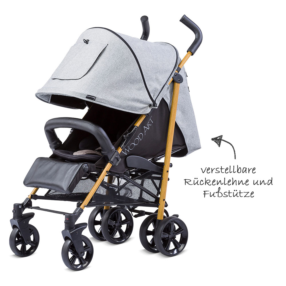 Knorr Baby Buggy Styler Test Knorr Baby Buggy Wood Art Black Grey Collection 2019