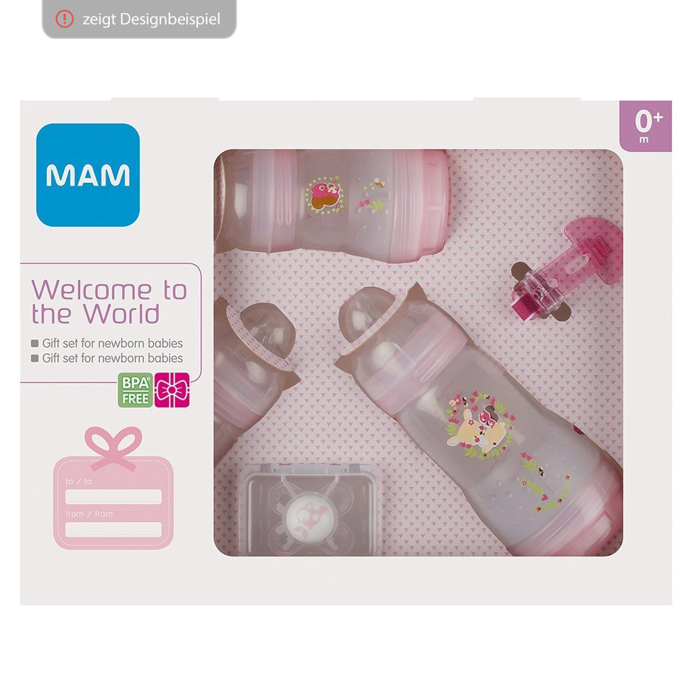 Baby Starterset Mam 5 Piece Starter Set Welcome To The World Pink