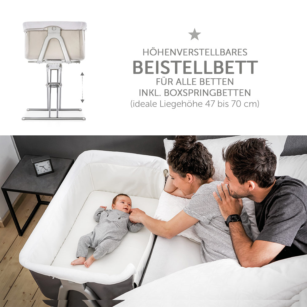 Baby Beistellbettchen Hauck Baby Side Bed Face To Me Also Suitable For Box Spring Beds Beige