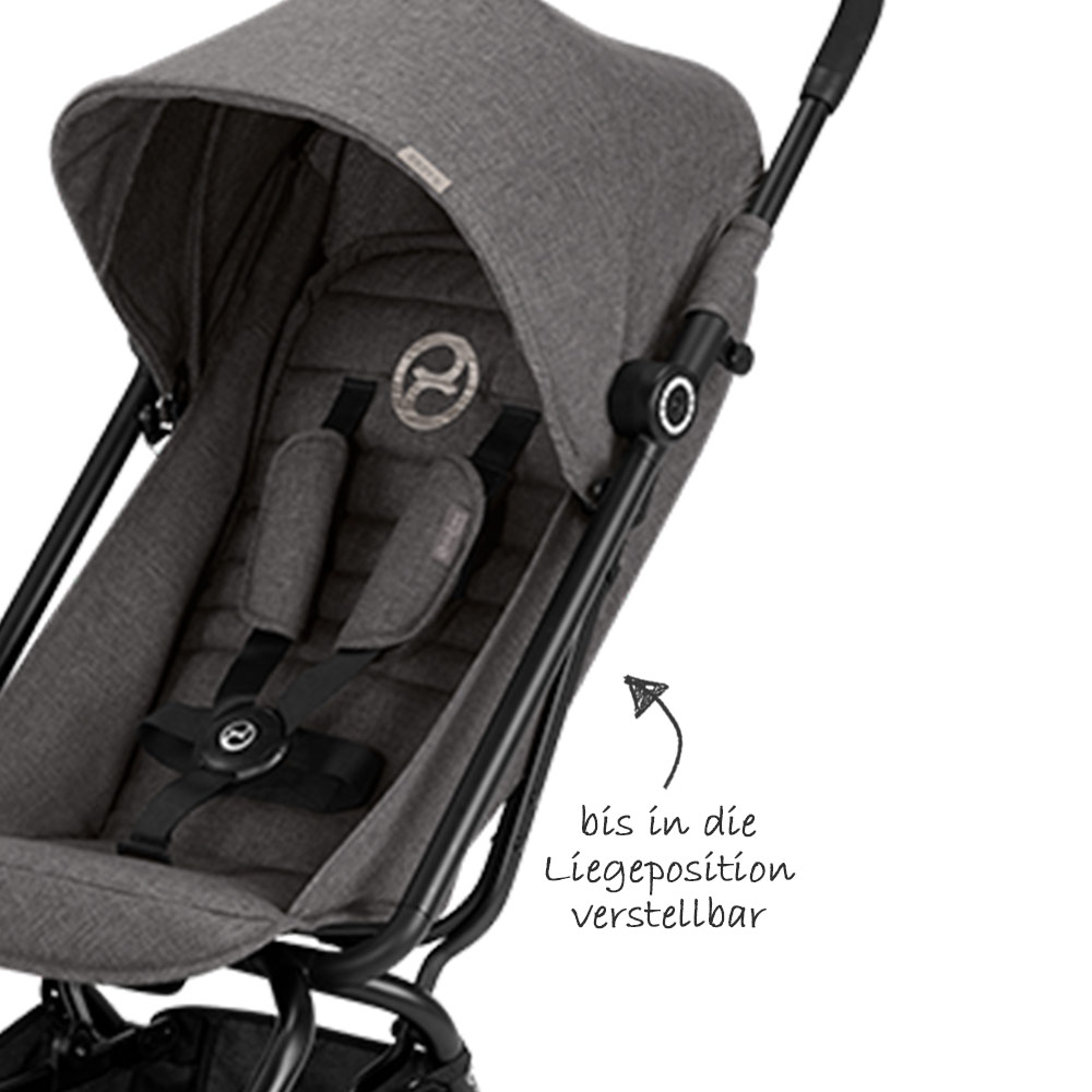 Cybex Buggy Liegeposition Cybex Buggy Eezy S Manhattan Grey Mid Grey Collection 2018