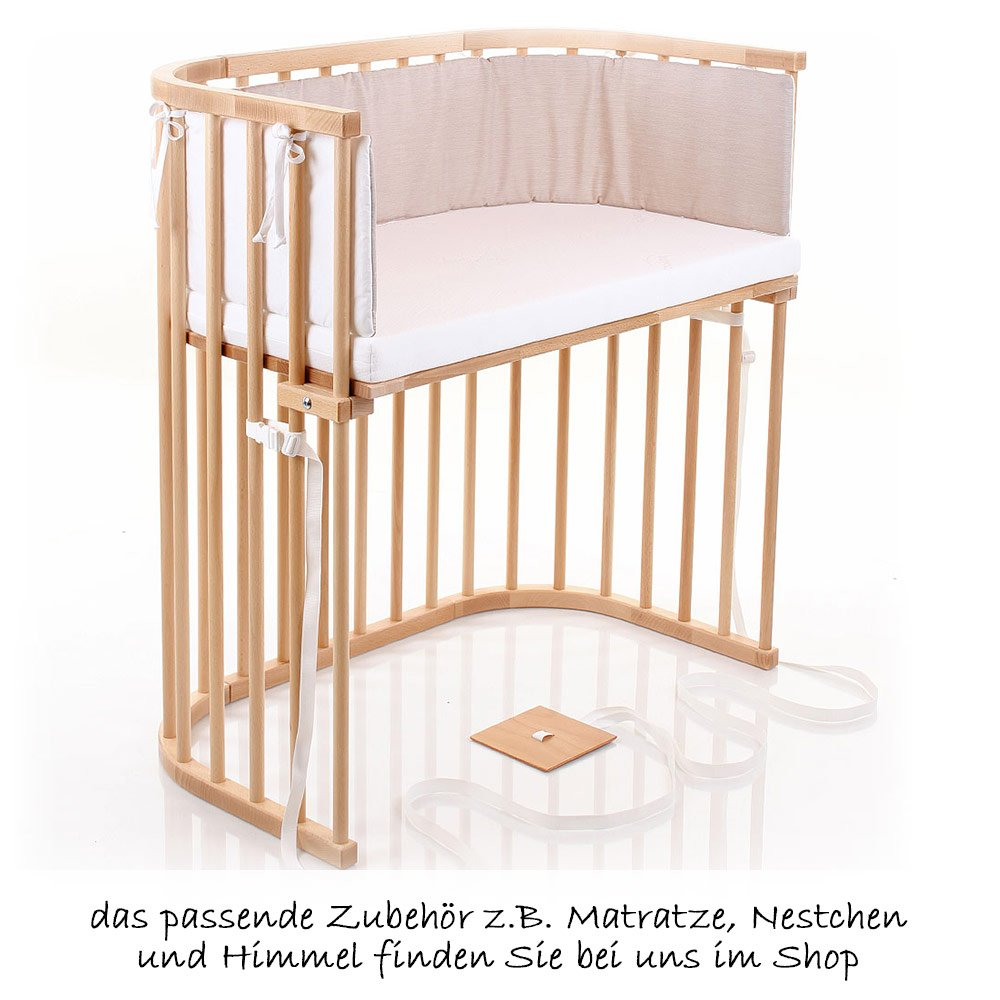 Anstellbett Baby Babybay Additional Bed Boxspring Extra Ventilated Natur Lacquered