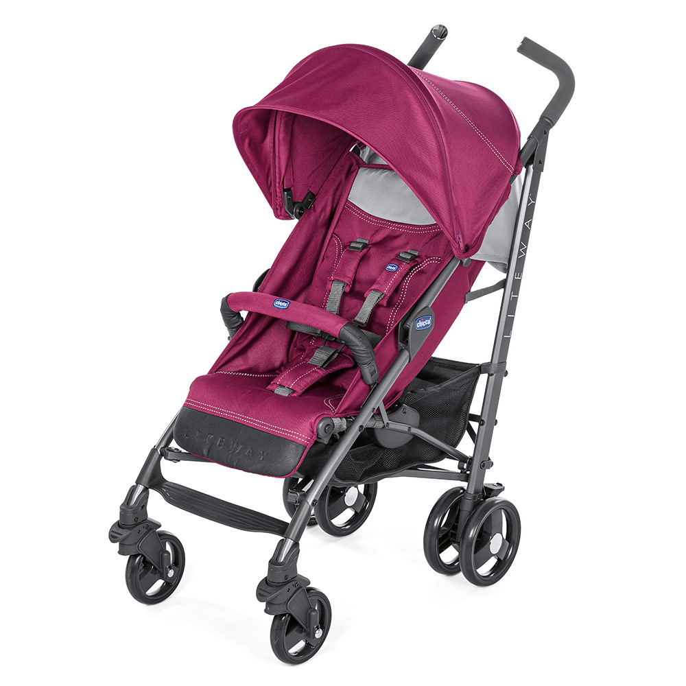 Fußsack Kinderwagen Chicco Chicco Buggy Lite Way 3 Red Plum Kollektion 2018