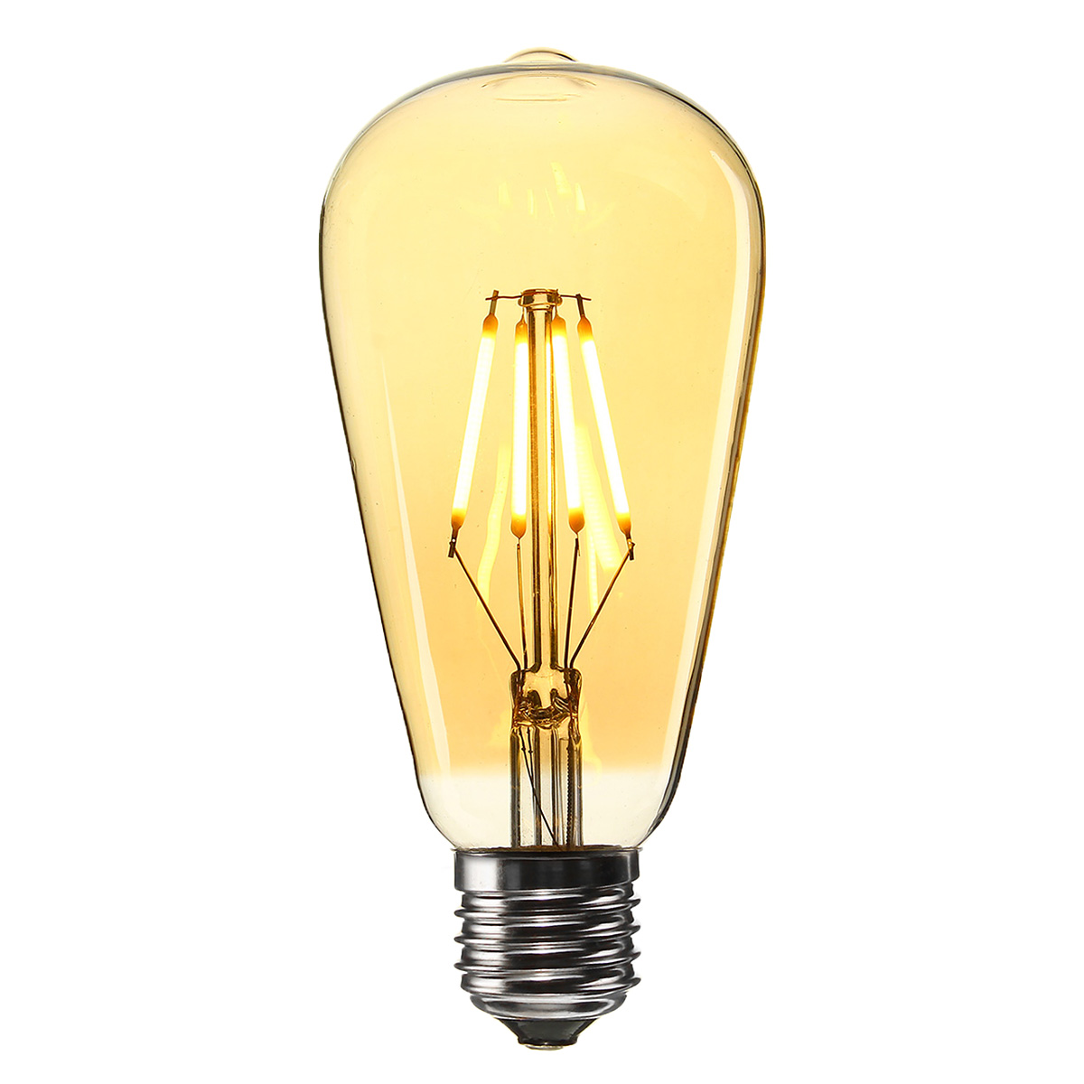 Retro Led E27 E27 St64 4w Golden Cover Dimmable Edison Retro Vintage