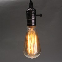 E27 Single Head Home Ceiling Pendant Lamp Light Bulb ...