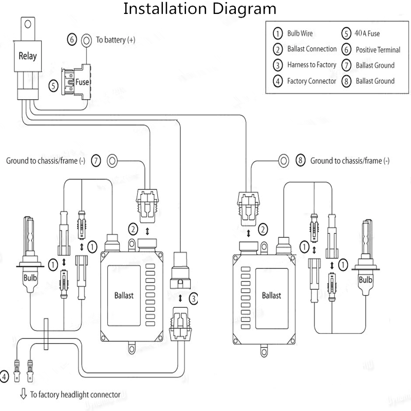 hid 12v wiring harness controller diagram