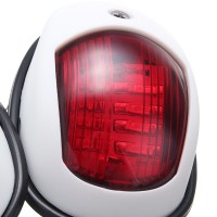 12V LED Marine Boat Yacht Lamp Bow Navigation Light Red ...