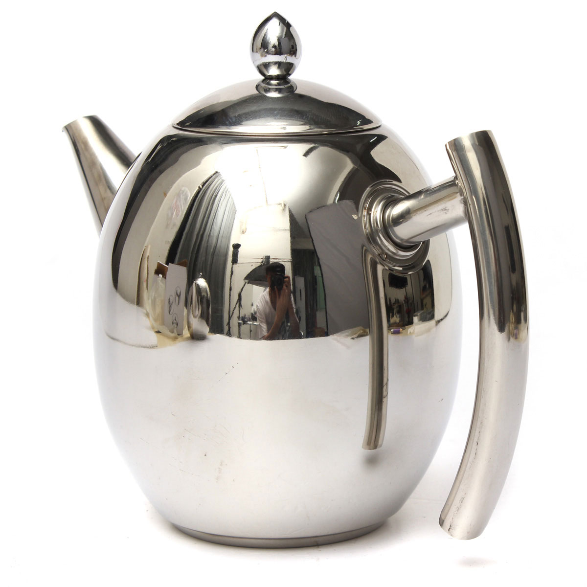 Tea Kettle With Strainer 1000ml Stainless Steel Tea Coffee Pot Kettle With Strainer