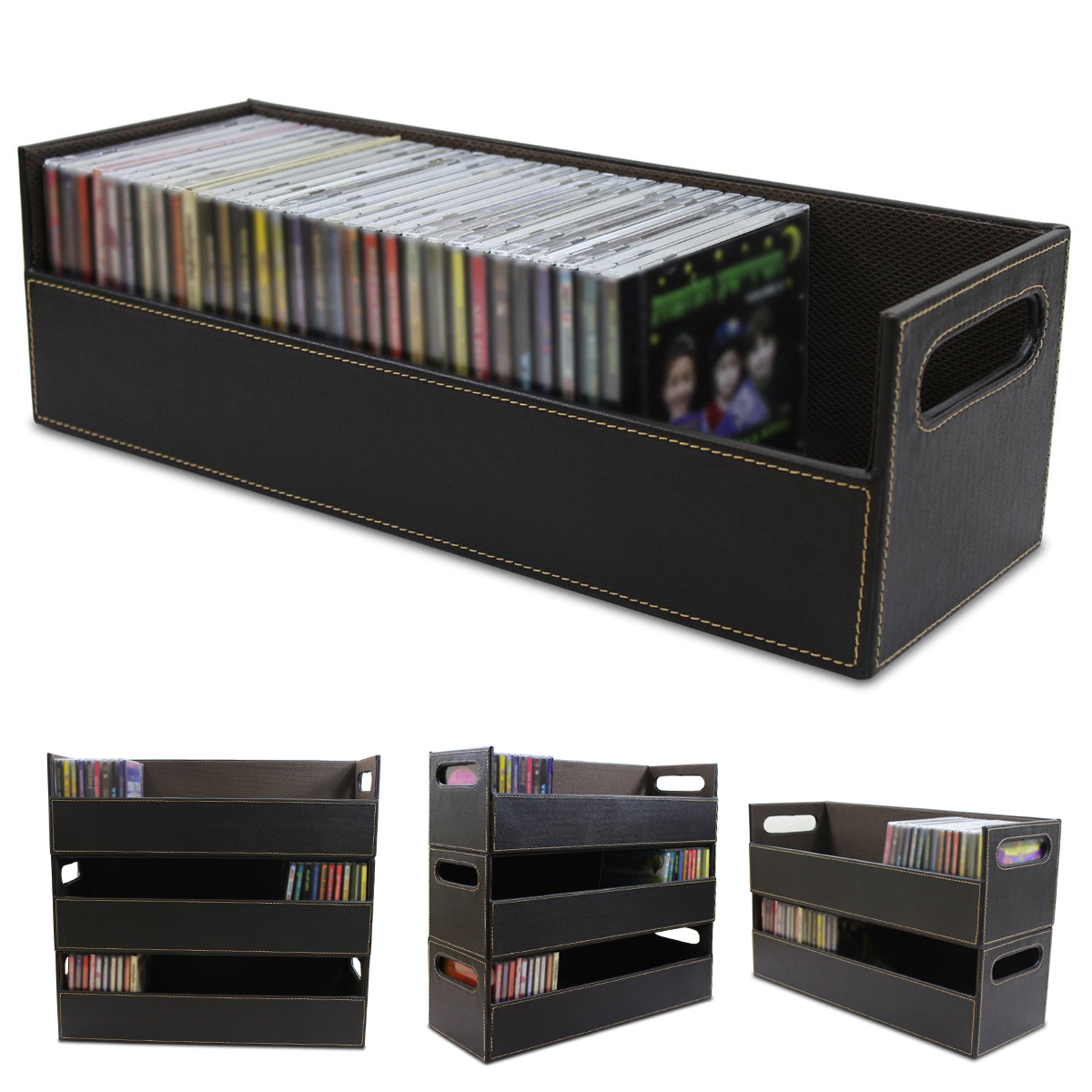Dvd Aufbewahrungsbox Cd Dvd Disk Storage Box Case Rack Holder Stacking Tray Shelf Space Organizer | Alexnld.com