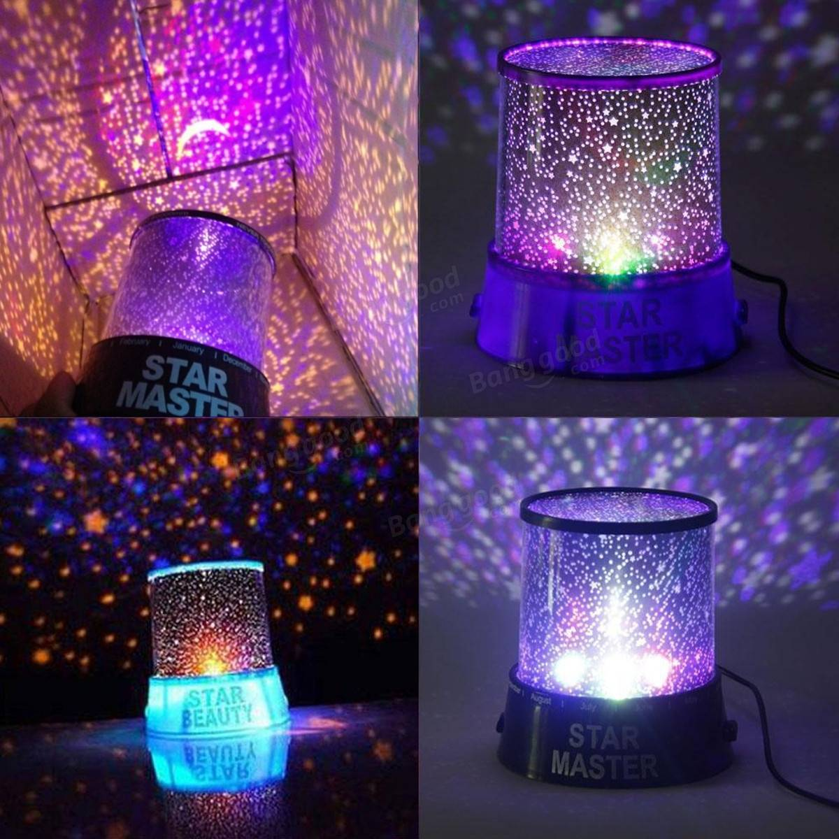 Best Kids Night Light Romantic Led Starry Night Sky Projector Lamp Kids Gift