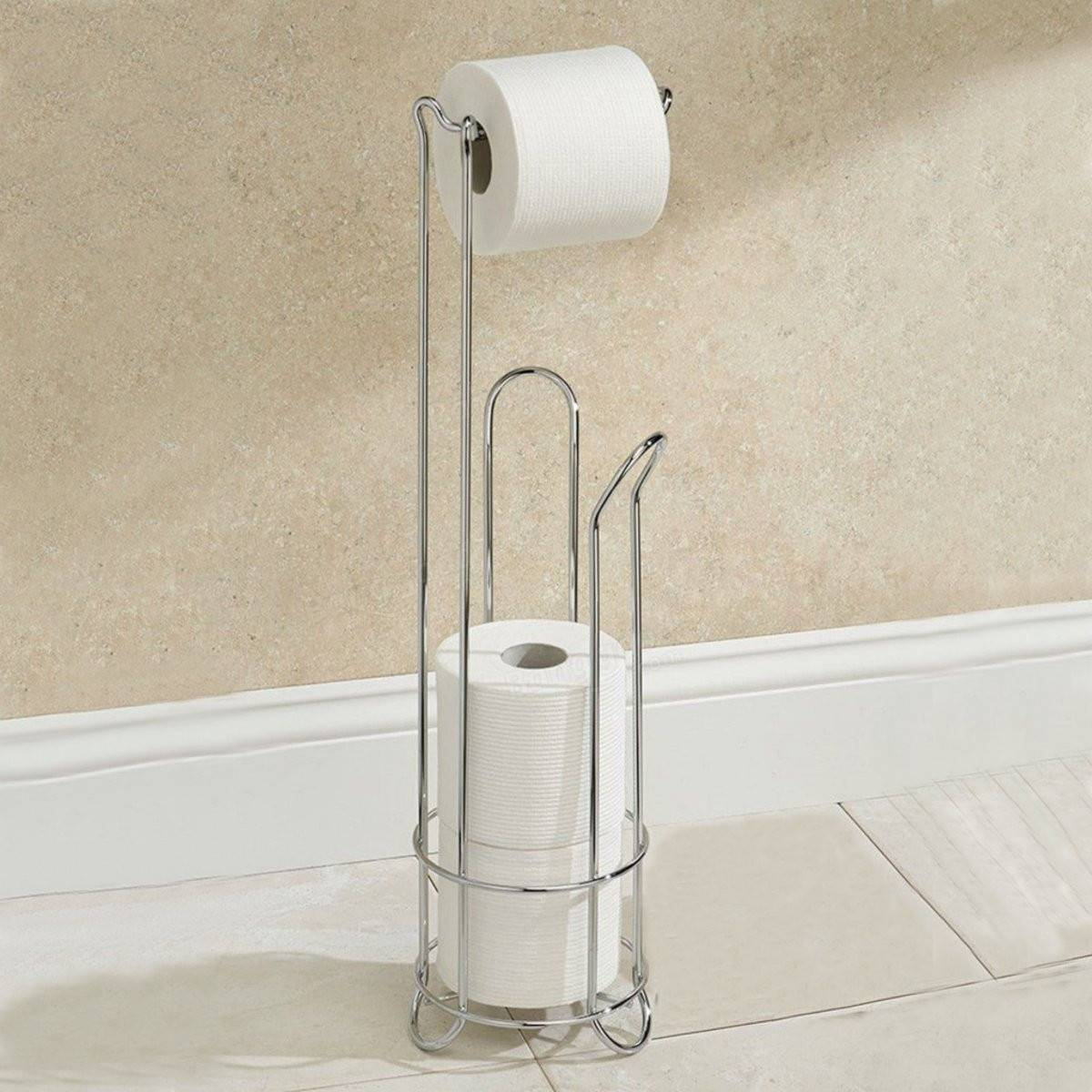 Stainless Steel Toilet Paper Stand Electroplating Stainless Steel Toilet Paper Holder