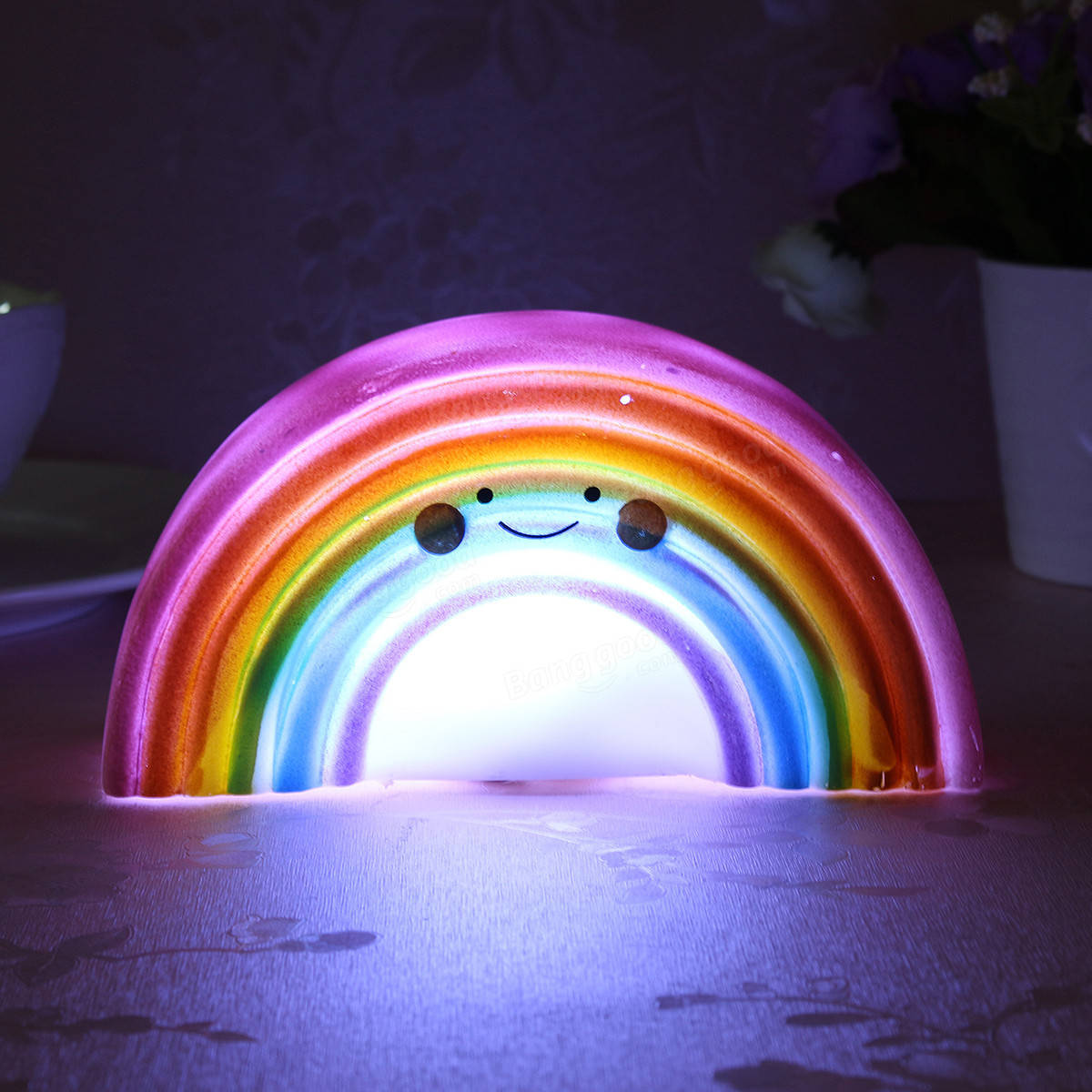 Childrens Nightlights Rainbow Shape Children Kid Baby Cute Led Night Light Table
