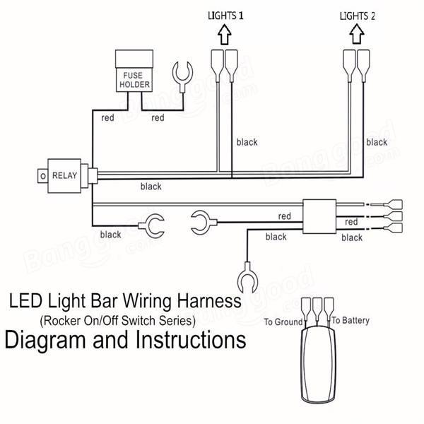 led light bar wiring loom diagram