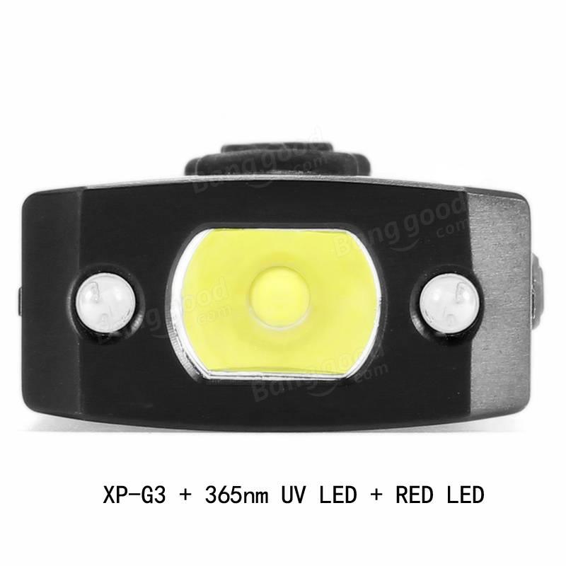 Astrolux K1 Edelstahl XP-G3 + 365nm UV + Red LED 250LM USB - lampen ausen led 2