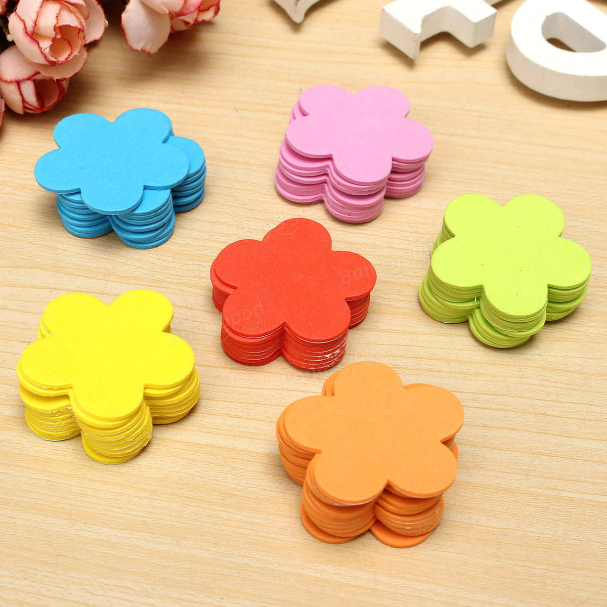 70pcs Baby Kids Room Flower Foam Removable Diy Quote Decal