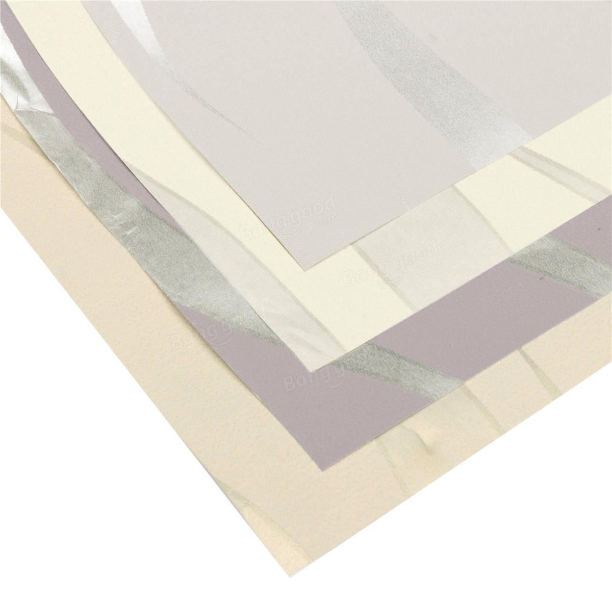 3d Wave Flocking Wallpaper 10m 3d Mezzaluna Onda Strisce Non Tessuto Affollando