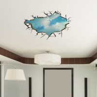 3D Sky Wall Decals Ceiling Hole Wall Art Stickers 22 Inch ...