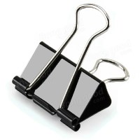 24pieces 41mm Metal Paper Clip Black Binder Clip Letter ...