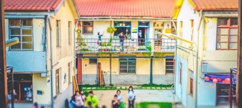 【台中】。台中文青拍照點 近草悟道美術館景點「審計新村」老房子