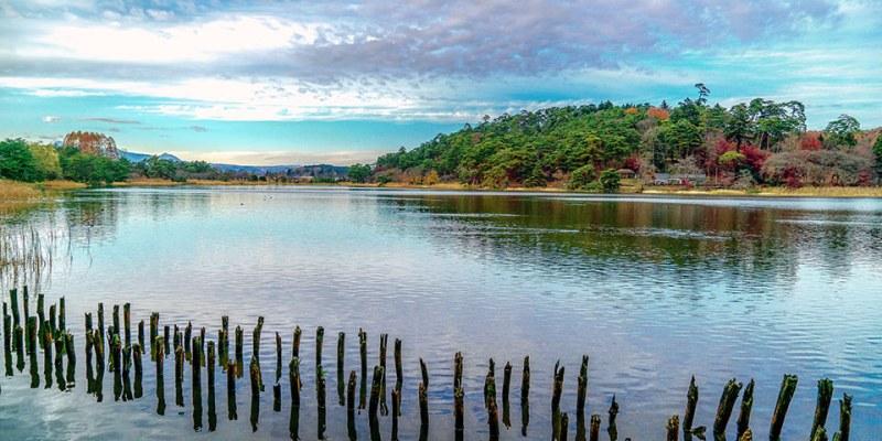 【福島】。白河南湖公園紅葉、日本100名城白河小峰城 @東北景點