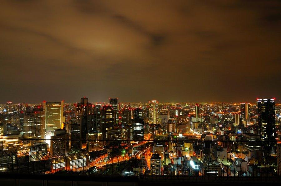 【大阪】。360°視野空中庭園展望台~大阪梅田夜景