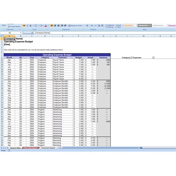 Save Time With Free Operating Budget Templates - operating budget template