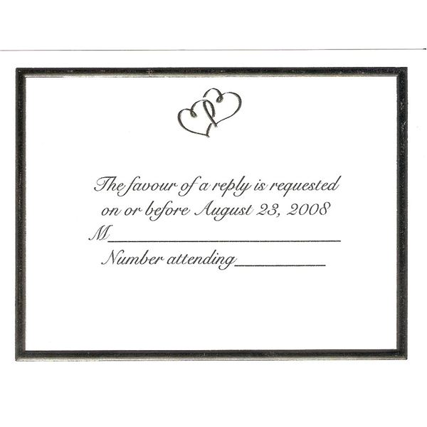 reply card template - Josemulinohouse - free printable wedding rsvp cards