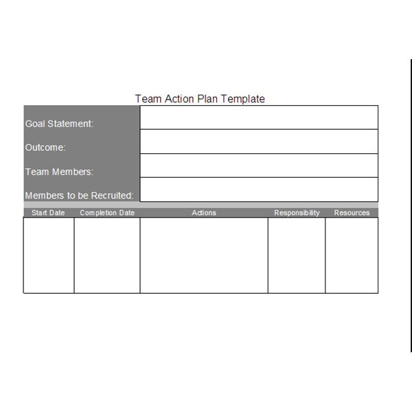 Free Team Action Plan Template Download and Customize for Your Projects
