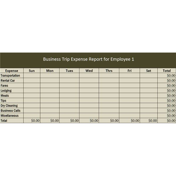 Travel Business Template in Excel Free Download - transportation log template