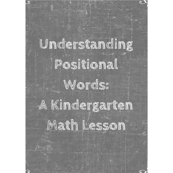 Teaching Early Math Concepts Positional Words Lesson Plan