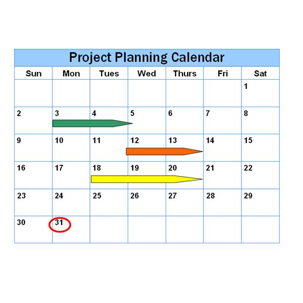 Project Schedule Examples - Different Ways to Represent a Project - project timetable