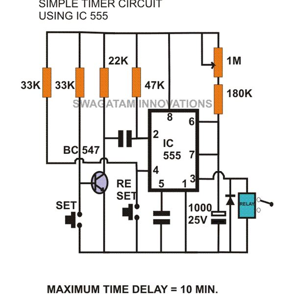 mode of ne555 monostable build circuit