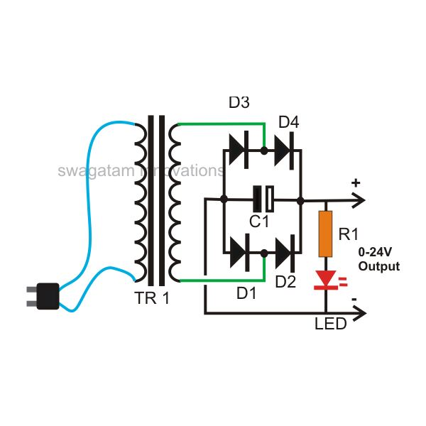 dc to ac transformer wiring diagram