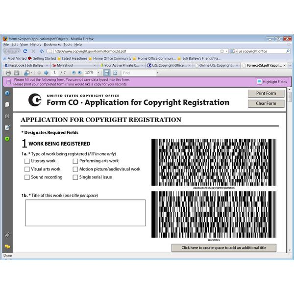 How Do I Apply or Register for a Copyright? - office forms online