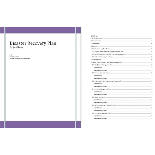 Free Disaster Recovery Plan Template for Project Managers and - disaster recovery plan template