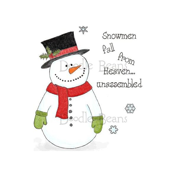 10 Snowman Digi Stamps for Christmas DTP Projects