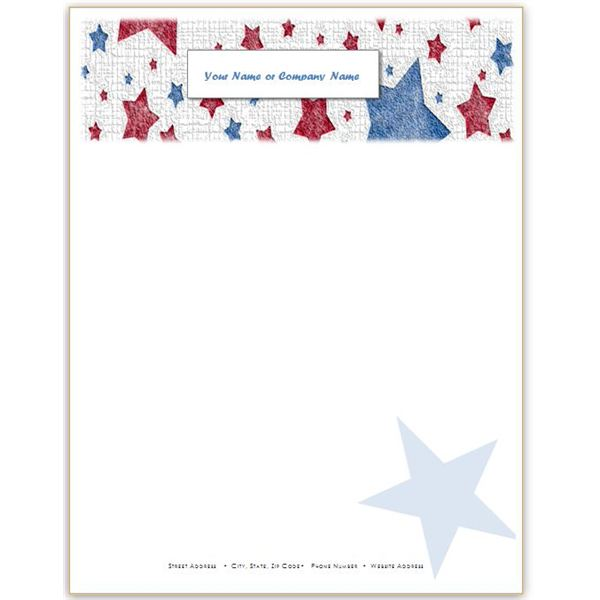 10 Patriotic Templates for MS Word Perfect for July 4th, Memorial - background templates for microsoft word
