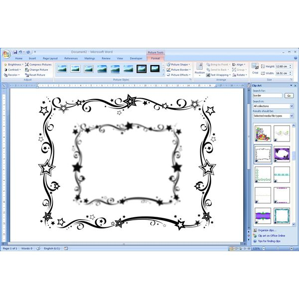 How To Add Free Borders Clip Art Microsoft Word Documents for Office - page border templates for microsoft word
