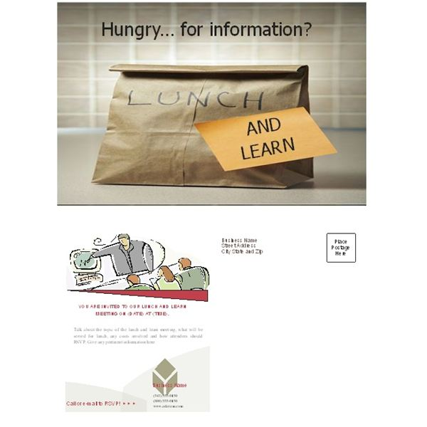 Free Business Lunch and Learn Invitation Forms Options for MS Word