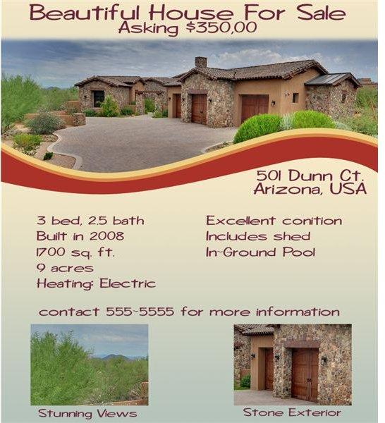 SOLD! Tips for Designing a Real Estate Flyer - home for sale brochure